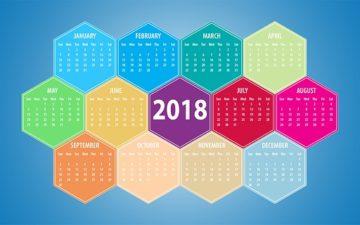 2018年カレンダー