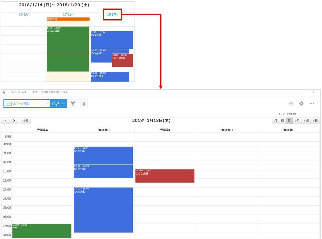 プラグインでのカレンダー表示(オプション機能)
